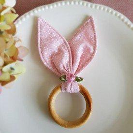 argola guardanapo de madeira pascoa orelhas de coelho rosa flor 6914 amora casa casa cafe mel 7
