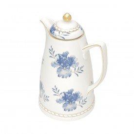garrafa termica porcelana floral azul 35579 wolff casa cafe mel 1