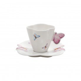 xicaras para cafe com pires porcelana borboleta 1162 wolff casa cafe mel 1
