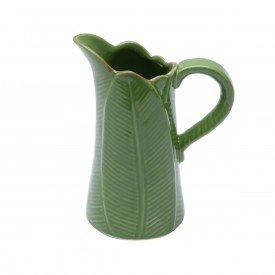 jarra leiteira de ceramica banana leaf verde 500ml 3876 lyor casa cafe mel 1