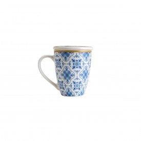 caneca de porcelana white amelia azulbranco com tampa e filtro 310ml poa 2278 lyor casa cafe mel 1