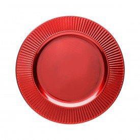 sousplat de plastico individual primer vermelho 33cm 7707 lyor casa cafe mel