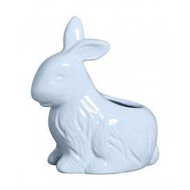 vaso coelho pascoa ceramica azul 79 263a silveira casa cafe mel