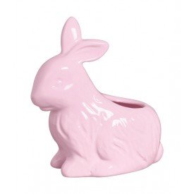 vaso coelho pascoa ceramica rosa 79 263r silveira casa cafe mel