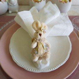 argola para guardanapo pascoa coelha floral amarelo 1013204 ama cromus casa cafe mel 8