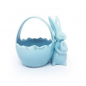 cesta pascoa coelho ceramica perola azul 1014807 cromus casa cafe mel 5