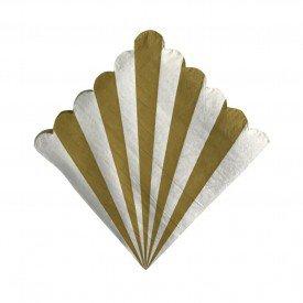 guardanapo de papel listra dourada 20 pecas 69460001 casa cafe mel