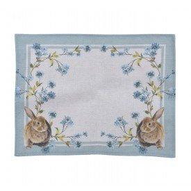 americano pascoa coelho floral azul 99479 casa cafe mel
