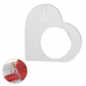 argola para guardanapo coracao acrilico individual 99403 casa cafe mel
