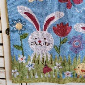 capa para almofada coelho pascoa colorido casa cafe e mel