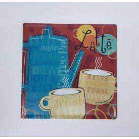 placa decorativa coffe latte casa cafe e mel