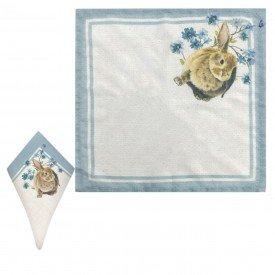 guardanapo pascoa coelho de tecido azul 99480 dea casa cafe mel