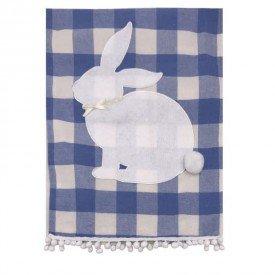 trilho pascoa coelho tecido xadrez azul 69683001 casa cafe mel