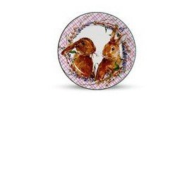 prato sobremesa ceramica pascoa bunny rosa 6 pecas scalla casa cafe e mel 3