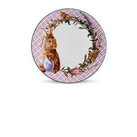 prato raso ceramica pascoa bunny rosa scalla 6 pecas casa cafe e mel