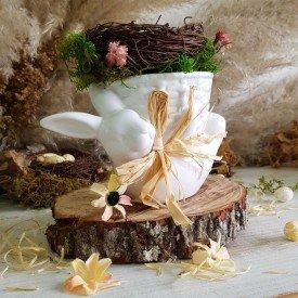vaso coelho deitado ceramica branca com cesto d a casa cafe e e mel 1