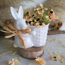 vaso pascoa ceramica branca sentado com cesto d a casa cafe e mel 4