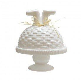 porta cake pascoa com tampa branco o22cm 69343001 casa cafe mel 1