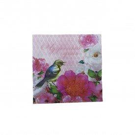guardanapo de papel estampa floral passaro 20 pecas gp043 p casa cafe mel 1