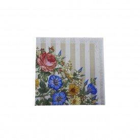 guardanapo de papel estampa flores listra 20 pecas gp01 fl casa cafe mel 1