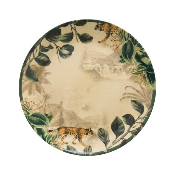 prato raso ceramica individual aquarelle savana 202283 copa e cia casa cafe mel