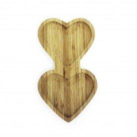 tabua para servir de bambu coracao duplo 25x14cm 2974 amigold casa cafe mel 3