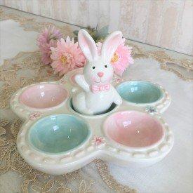 porta ovo coelho ola decorativo casa cafe e mel