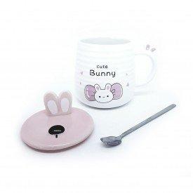 caneca com tampa pascoa bunny cute 400ml h20837 a casa cafe mel 3