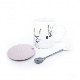 caneca com tampa pascoa lovely rabbit 400ml h20838 casa cafe mel 3