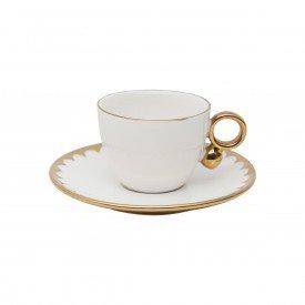 xicara de cafe com pires porcelana egg branco 3783 wolff casa cafe mel 1