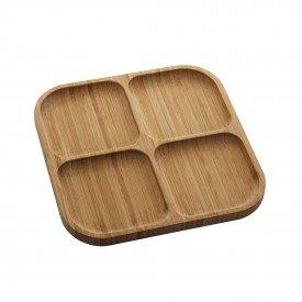 petisqueira quadrada de bambu square 25cm 1345 p lyor casa cafe mel 1