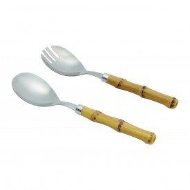 conjunto para salada em inox bambu 2 pecas 7026 ly lyor casa cafe mel 1
