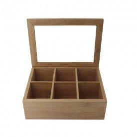 caixa de bambu retangular com 6 divisoria 26825 full fit casa cafe mel 2