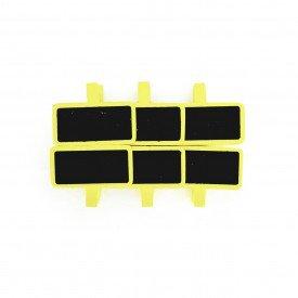 grampo decorativo marcador de lugar 6 pecas amarelo hd70324 am casa cafe mel 1