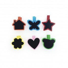 grampo decorativo infantil marcador de lugar 6 pecas colorido 71923 casa cafe mel 1