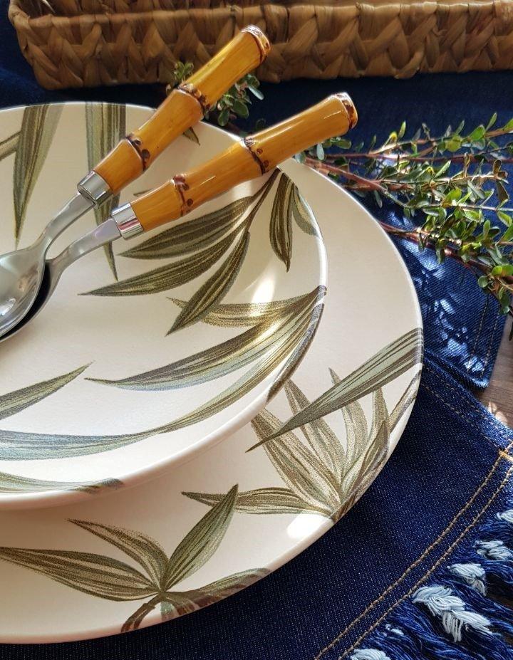 prato fundo ceramica aquarelle individual bambu casa cafe e mel 2