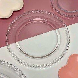 prato sobremesa cristal de chumbo coracao transparente 1504 ly lyor casa cafe mel