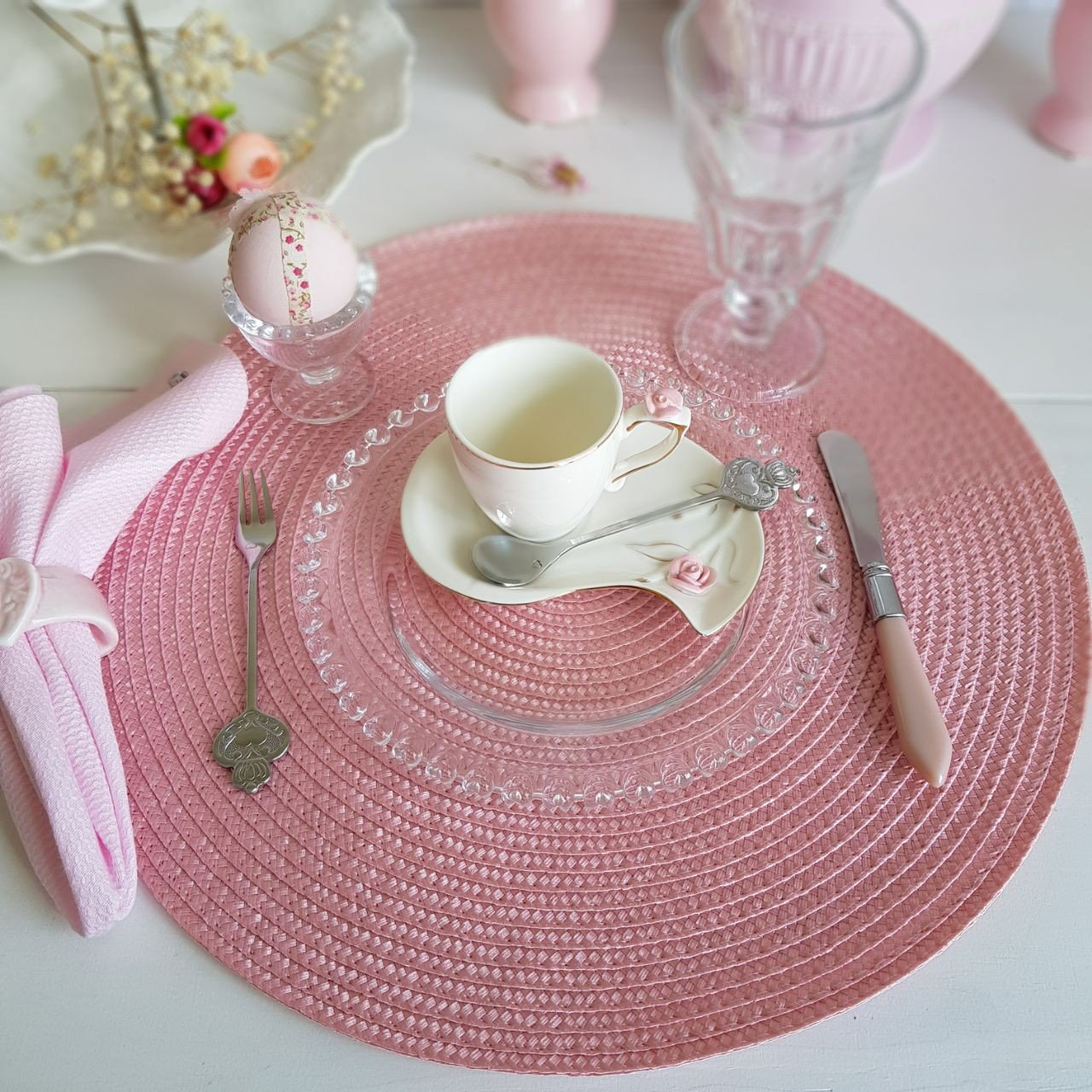 americano redondo trama individual rosa 38cm gzt casa cafe e mel 2