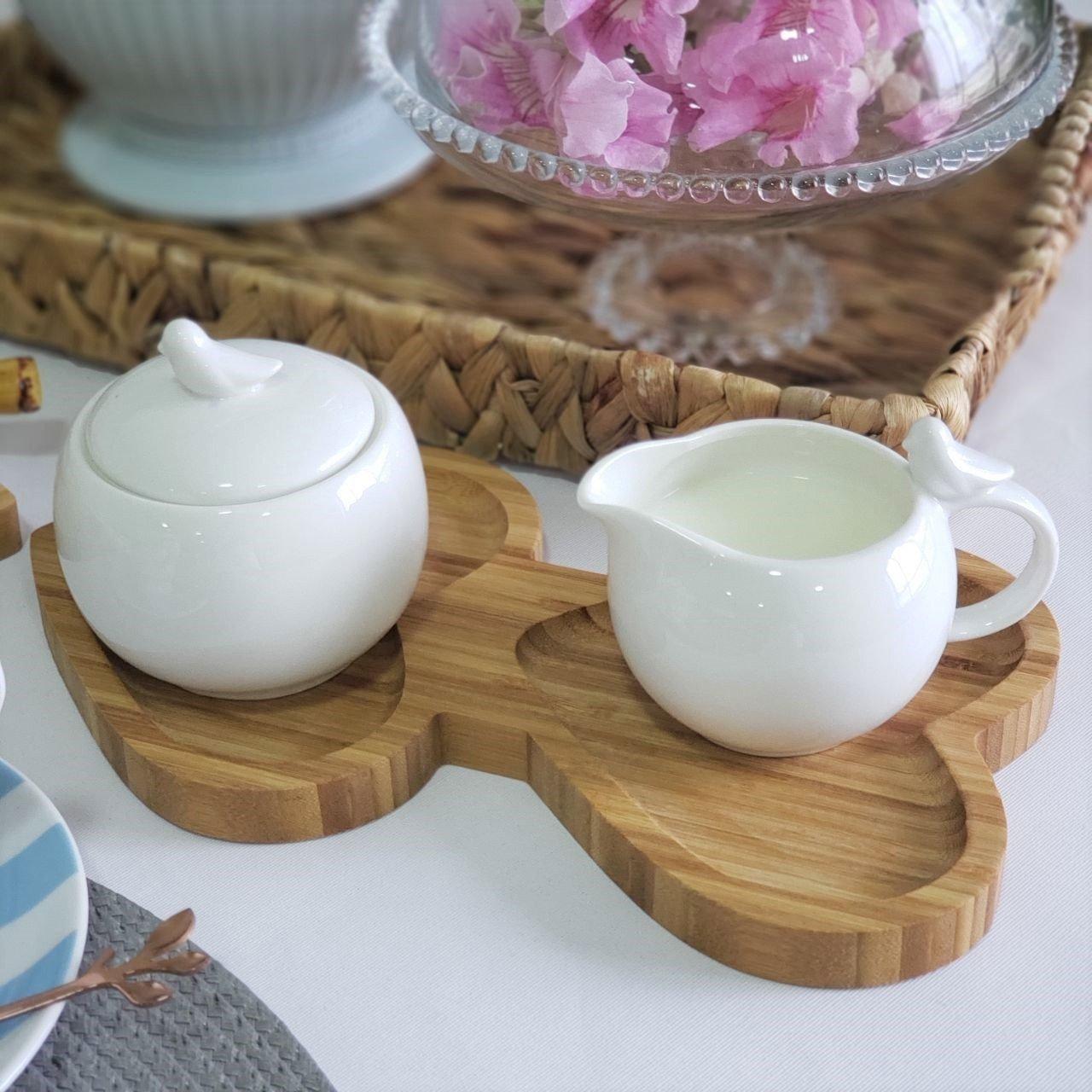 tabua para servir coracao duplo bambu 25x14cm casa cafe e mel 1