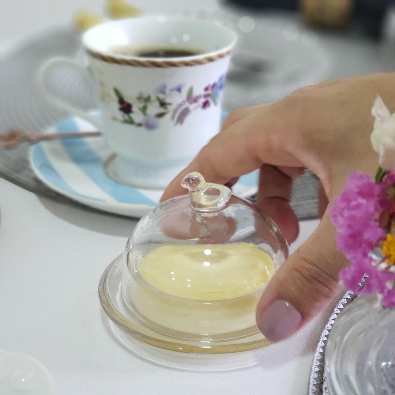 manteigueira de criatal passaro lyor casa cafe e mel