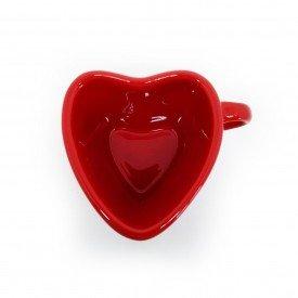xicara para cha ceramica forma de coracao 150ml vermelho 21 443 silveira casa cafe mel 6