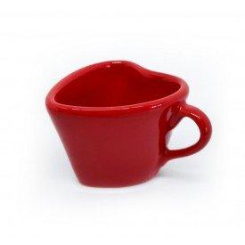 xicara para cha ceramica forma de coracao 150ml vermelho 21 443 silveira casa cafe mel 7