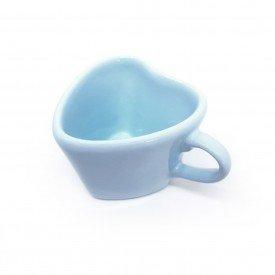 xicara para cha ceramica forma de coracao azul 79 443a silveira casa cafe mel 5