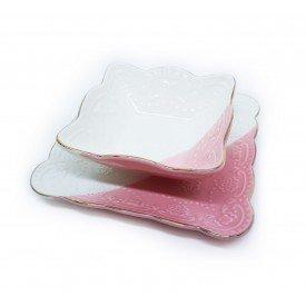 conjunto petisqueira filete dourado borboletas rosa 062029 pra caza casa cafe mel 4