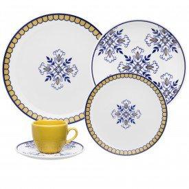 aparelho de jantar porcelana lisboa 20 pecas 090686 oxford casa cafe mel