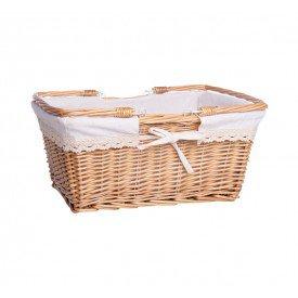 cesta de vime forrada piquenique com alca dc0048 g mundiart casa cafe mel