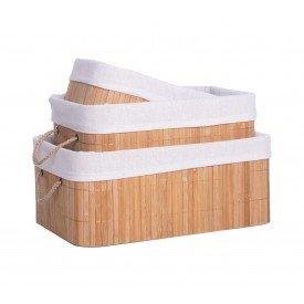 cesto organizador de bambu forrado 3 pecas bege dc0043 mundiart casa cafe mel 1