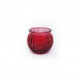 castical de vidro porta vela vermelho hd02101 ve casa cafe mel 1