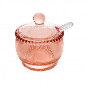 acucareiro de cristal com tampa e colher pearl rosa 28459 wolff casa cafe mel 1