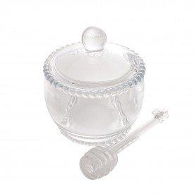 meleira de cristal com tampa e pegador 250ml pearl transparente 28380 wolff casa cafe mel 1